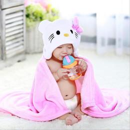 Kids Fleece Bathrobes Canada - Cartoon Animal Shape Hooded Baby Bathrobe  Fleece Baby Blanket Toddler Receiving 6dfafebc2