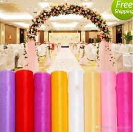 $enCountryForm.capitalKeyWord NZ - NEW 12 Colors Fashion Ribbon Roll Organza Tulle Yarn Chair Covers Accessories For Wedding Backdrop Curtain Decorations Supplies 50m roll MYY