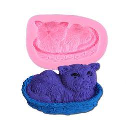 $enCountryForm.capitalKeyWord UK - Free shipping NEW arrival lazy cat shape DIY silicone molds for cake decoration fondant mold mini soap chocolate candy mould