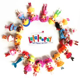 Doll Bulk Canada - 16pcs lot New 8cm MGA mini Lalaloopsy Doll the bulk button eyes toys for girl classic toys Brinquedos 8 different style