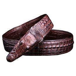 Crocodile Mans Belt Canada - Mens Belts Luxury Leather Designer Belt Men High Quality Ceinture Homme Cinto Masculino Luxo Crocodile Cinturones Hombre B2