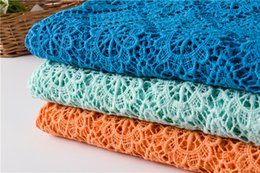 Candy Knit Fabric Canada - flower lace French Voile Fabric Cotton Knitted Candy color Mesh lace fabric for garment Embellishment cloth sewing accessories