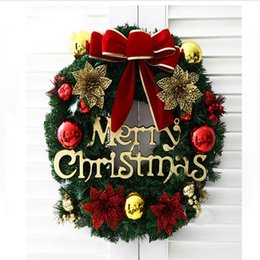 Creative Multi Christmas Wreaths Party 40CM Wreath Door Wall Decoration Hanging Balls Decorations For Market Hotel