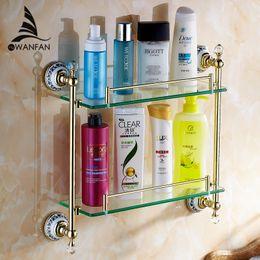 Bathroom Double Glass Shelf Online Bathroom Double Glass Shelf