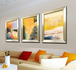 $enCountryForm.capitalKeyWord NZ - Three-Picture Combination Famous Abstract Wall Art Prints Hand Painted Decorated Poster Oil Painting for Living Room No Frame