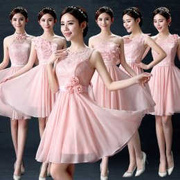 7ab81a7b6d456 mixed different styles country patterned sexy wedding pink vestido festa  formal bridesmaid dresses with flowers under 50 W3604
