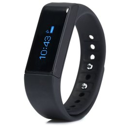 portuguese bracelets UK - I5 Plus Smart Bracelet IP67 Bluetooth 4.0 Watch Wristband Sleep Monitoring Sports Tracking Remote Camera smartwatch band Android