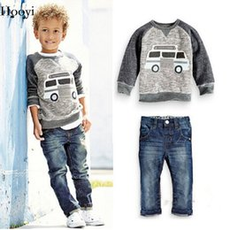 $enCountryForm.capitalKeyWord NZ - Fashion Baby Boy 2-Pieces Clothes Sets Children Sweatshirt Jeans Suit Boys Outfits Kids Clothing Casual Infant Sweater Trousers Tee Shirts