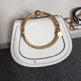 $enCountryForm.capitalKeyWord Canada - 2017 Hot Sale HighEnd Style Medium Nile Bracelet Ring Circle Hoof Strap Corssbody Flap Bag Six Colors
