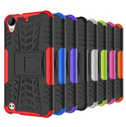 Discount desire holder For HTC Desire 530 case,Tire pattern Style Hybrid Shockproof Protection Case Stand Holder Back Cover for HTC Desire 630