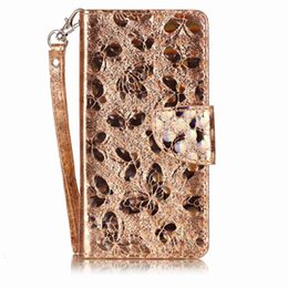 leather carved wallets UK - Fashion PU Leather Case For fundas Samsung Galaxy A520 A5 2017 Cover Phone Bag Laser Carving Butterfly Wallet Stand Mobile Phone Case
