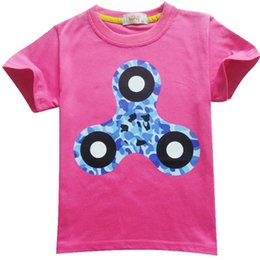 Discount style spinner - Boys girls fidget triangle Spinner T shirt 4 Color New Children cartoon cotton Short sleeve T-shirt baby kids clothes DH