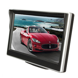 Rearview Screen NZ - Wholesale- HD 800*480 Car TFT Electronic Screen 5 Inch LCD Car Colorful RearView Monitor Parking Backup Camera DVD with car Brack