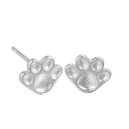 baby charm 925 NZ - 5 pairs lot Silver 925 Sterling Jewelry Cute Baby Dog Paw Silver Earrings Animal Stud Earrings for Women Wholesale Accessories