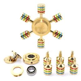 Discount sport cooper - Brass Hexagonal Fidget Spinner Hexa-spinner EDS Anti-stress Rotation Metal Spinners Cooper Fidget Spinner Decompression