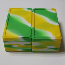 $enCountryForm.capitalKeyWord UK - Wholesale 1+1 flat silicone wax box food grade silicone flat container bho jars dab tool storage jar