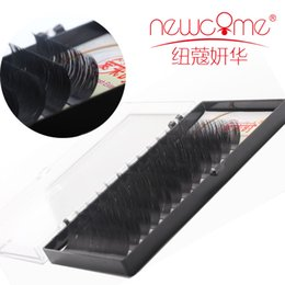 Individual Eyelashes D Curls Canada - Newcome All sizes 12rows case eyelash extension hand made individual 3D eye lashes B C D curl 8-15mm
