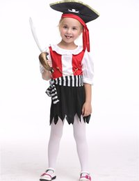girls pirate costume halloween costume for kids stage dance wear toddler pirate short skirt party cosplay teenage girl pirate halloween costumes promotion - Teenage Girl Pirate Halloween Costumes