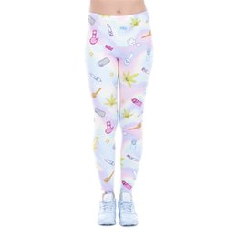 Chinese  Women Leggings Holo Fun Lucky Leaf Digital 3D Print Girl Skinny Stretchy Comfortable Pants Lady Gym Fitness Capris Yoga Trousers (J43455) manufacturers