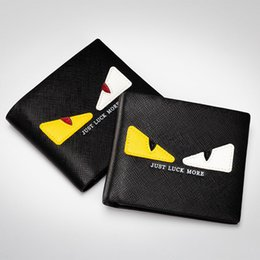 $enCountryForm.capitalKeyWord NZ - HOT Little Monster Man Women's Wallet Mini Eyes Purses Female PU Leather Daily Clutches PU Wallets Free Shipping
