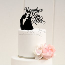 Wholesale Free Shipping Acrylic Happily Ever After Wedding Cake Topper Stand Decoration Decorating Supplies