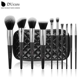 Ducare Make Up Brushes 10pcs Professional Brand Makeup Brushes High Quality Brush Set with Black Bag Beauty Essential Brushes