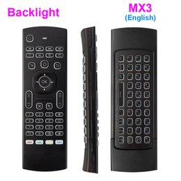 tv motion sensor 2019 - MX3 X8 Backlit Mini Keyboard 2.4ghz Fly Air Mouse Remote Controller With Motion Sensor For Smart TV Android TV Box T95X
