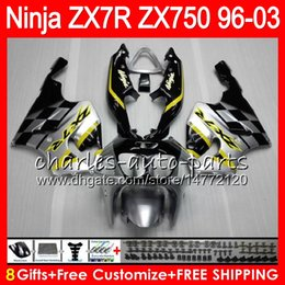 $enCountryForm.capitalKeyWord NZ - 8Gifts 23Colors For KAWASAKI NINJA ZX7R 96 97 98 99 00 01 02 03 18HM14 black Silver ZX750 ZX 7R ZX-7R 1996 1997 1998 1999 2000 2003 Fairing