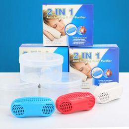 $enCountryForm.capitalKeyWord NZ - 2 In1 Anti Snoring Air Purifier Mini PM2.5 Mini Snoring Cessation Stop Snoring Nose Clip Sleep Tray Sleeping Health Care CCA7118 100pcs