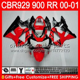 $enCountryForm.capitalKeyWord Australia - Body For HONDA CBR 929RR CBR900RR CBR929RR 00 01 CBR 900RR 67HM4 red black CBR929 RR CBR900 RR CBR 929 RR 2000 2001 Fairing kit 8Gifts