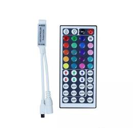 Опт 10 шт. DC12V 6A Мини RGB светодиодный контроллер с 44 клавишами ИК-пульт дистанционного управления Диммер беспроводной для светодиодной ленты 5050 3528 34 режимов