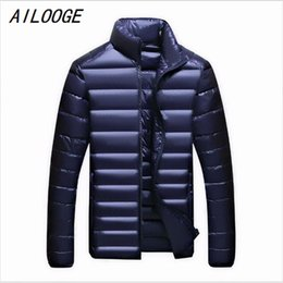 Barato 7xl Homens-Venda Por Atacado- Casual Ultralight Mens Duck Down Casacos Outono Inverno Jacket Men Lightweight Duck Down Jacket Men Overcoats 7XL 6XL 5XL XXXL