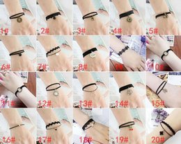 Harajuku Charms Canada - harajuku bracelet rock charm bracelets Cortical velvet lace Multilayer bracelet punk Charm bracelet 67