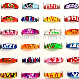 $enCountryForm.capitalKeyWord Canada - 100pcs Top Resin Fashion Hand Printed Children Women Girls Rings Wholesale Jewelry Lots Free Shipping A-083
