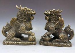 $enCountryForm.capitalKeyWord Canada - China brass copper Feng Shui lucky Foo Dogs Lion kylin pair Sculpture Statue