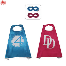 Special Day Gifts Canada - FREE DHL 70*70cm Boys&Girls Special double side satin fabric cape+mask for Birthday Party Costume Christmas gift cosplay costume