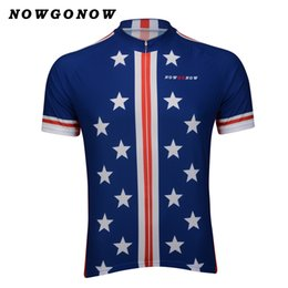 Retro cycling jersey USA men pro team clothing bike wear blue rider  NOWGONOW tops road mountain Triathlon national team classic Quick Dry 40640d05a