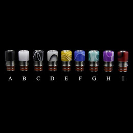 $enCountryForm.capitalKeyWord NZ - New e-cigs atomizer drip tip A variety of colors 510 thread Stainless steel resin droplets mouth 21.2mm*11mm Factory outlets high-quality