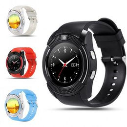 Discount v8 smart watch green black - Bluetooth V8 Smart Watch Health Clock Fitness Bracelet Pedometer SIM GSM Card Smart Watch for iOS  Android PK Q18 GV18 U