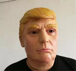 2017 usa president candidate mr trump latex halloween mask latex mask billionaire presidential donald trump latex mask christmas gifts - President Halloween Mask