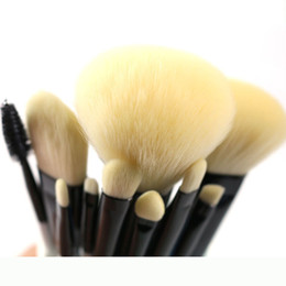 makeup brushes set function NZ - Professional Makeup Brushes Set High Quality Makeup Tools Kit Premium Full Function Synthetic Hair Wood Handle Brush 10pcs