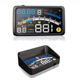 "Car Speed Projectors UK - 2017 4E 5.5"" Head Up Display HUD OBD II EOBD Windshield Projector Self-adaptive Car Fuel etc Parameter Display Speeding Warning"