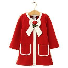$enCountryForm.capitalKeyWord Australia - Kids Girl Dress Baby Girls Striped Bow Cotton Dresses 2-6Year Infant Princess Full Sleeve Party Dress Costume 2018 Children Clothes B800