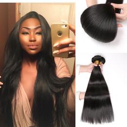 $enCountryForm.capitalKeyWord Australia - Brazilian human Hair extensions Malaysian Peruvian Mongolian Unprocessed Straight Hair Bundles Dyeable Best Quality Hair Weave 8A Grade