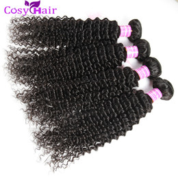 russian curly hair bundle Canada - Brazilian Jerry Curly Hair Grade 8A Unprocessed Peruvian Malaysian Indian Cambodian Mongolian Kinky Curly Human Hair Weave Bundles Extens
