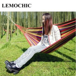 wholesale  high quality lemochic summer portable outdoor leisure traveling camping parachute canvas hammock for two person 3 colors two person camping hammock nz   buy new two person camping hammock      rh   nz dhgate