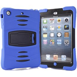 Discount tpu ipad dhl - For iPad Case Rugged Protector Hybrid 3 in 1 Case Shockproof Robot Kickstand Case For iPad Mini 1 2 3 4 DHL PCC052