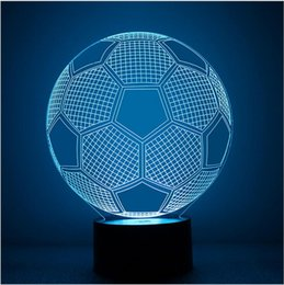 football league NZ - Football LED Desk Lamps champions league nights Change Light Led Christmas Decoration Lights 3D Lighting For Sitting room bedroom