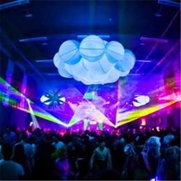 hanging colorful inflatable lighting inflatable cloud for christmas stage decoration