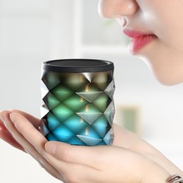 mood lighting 2019 - Brilliant Mood lamp Diamond Bluetooth speaker Soaiy S-73 Colorful themes Light Subwoofer with Microphone and TF Card MP3